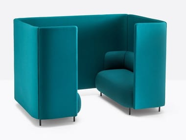 Acoustic sectional fabric office booth BUDDY HUB | Acoustic office booth