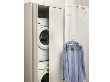Mobili lavanderia per lavatrice archiproducts for Lavatrice e asciugatrice in colonna