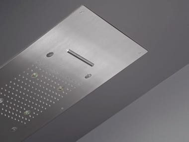 LED ceiling mounted stainless steel overhead shower with chromotherapy ACQUACHIARA 29