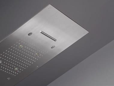 LED ceiling mounted rectangular stainless steel overhead shower ACQUACHIARA 30