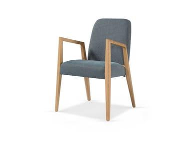 Cadeira estofada de tecido com braços ADEL CB