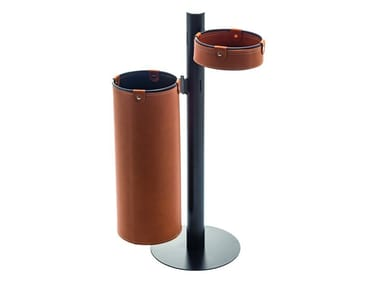 Bonded leather umbrella stand / pin tray ADELFO