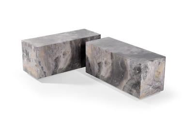Tavolino rettangolare in vetro ADONE | Tavolino