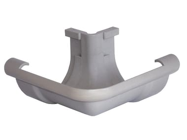 Angolare esterno per canale di gronda in PVC grigio AEN116N