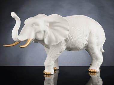 Ceramic decorative object AFRICAN MOTHER ELEPHANT