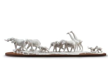 Scultura in porcellana AFRICAN SAVANNAH WILD ANIMALS