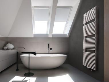 Wall-mounted steel towel warmer AGAVE