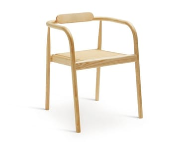 Open back stackable ash chair AHM | Chair