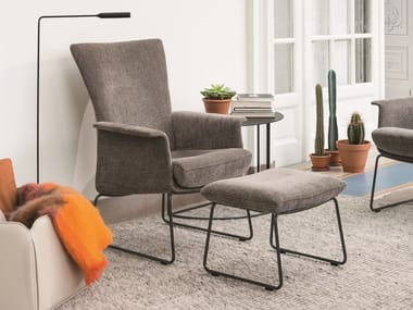 Sled base high-back armchair with armrests AIDA | Armchair
