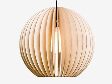 Plywood pendant lamp AION XL