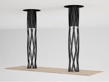 Rectangular steel and wood table AIR | Rectangular table