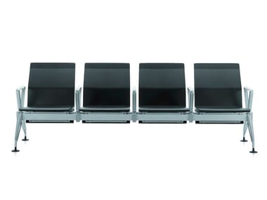 Expanded polyurethane beam seating with armrests AIRLINE | Expanded polyurethane beam seating