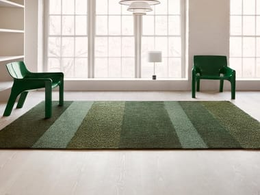 Hand tufted cut and bouclé rug in pure wool and linen ÅKER