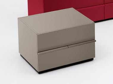 Rectangular bedside table with drawers AKI | 60 cm