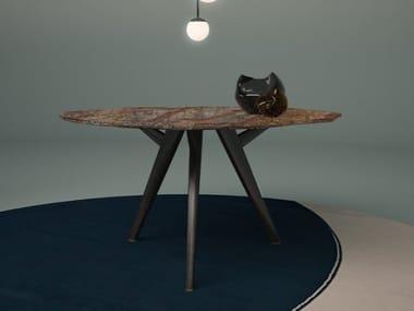 Tavolo rotondo in marmo AKI