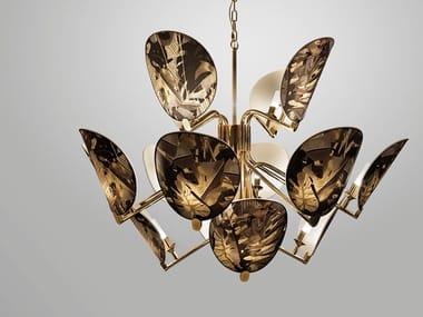 Lampada a sospensione a LED a luce indiretta in ottone AKIRA | Lampada a sospensione