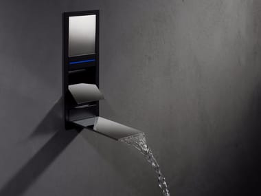 Wall-mounted LED waterfall bathroom tap AQUALITE | Contemporary style shower tap