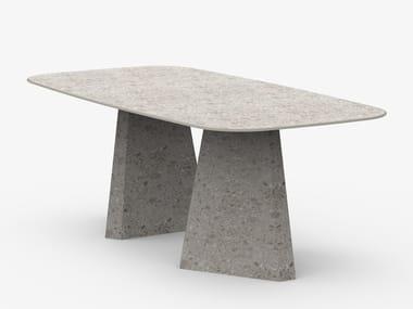 Tavolo da pranzo ovale in gres porcellanato ALAI | Tavolo ovale