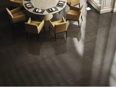 Pavimento/rivestimento in gres porcellanato effetto marmo per interni ed esterni ALANYA BLACK