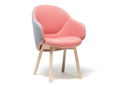 Fabric easy chair with armrests ALBA | Easy chair with armrests