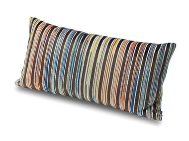 Cuscino in velluto di viscosa tinto in filo a righe ALBANY