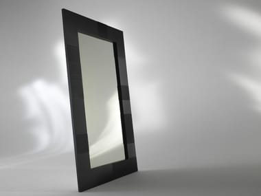 Freestanding framed mirror ALBEDO | Rectangular mirror