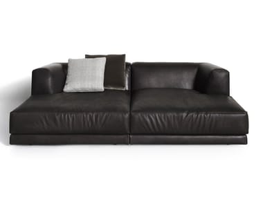 Sectional modular leather sofa ALBERESE | Leather sofa