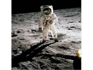 Stampa fotografica ALDRIN ON THE MOON