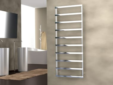 Hot-water wall-mounted stainless steel towel warmer ALESSANDRA | Hot-water towel warmer
