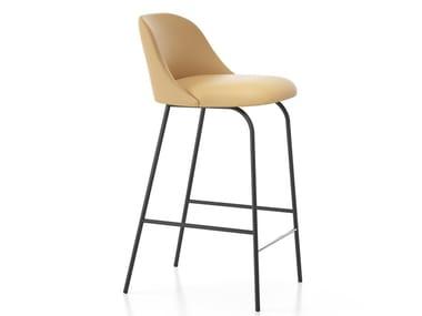 High stool with back ALETA | Stool