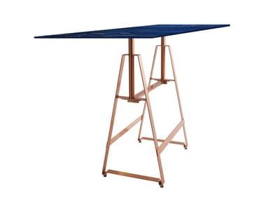 Rectangular iron dining table ALFA