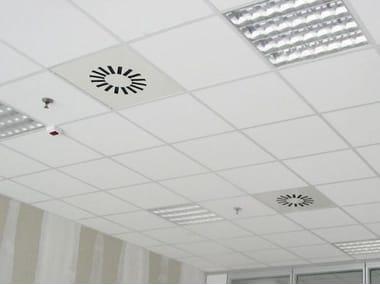 Polyester fibre Sound insulation and sound absorbing panel for false ceiling ALFACUSTIK QUADROTTO
