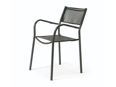 Stackable Texplast garden chair with armrests ALICE   Texplast chair