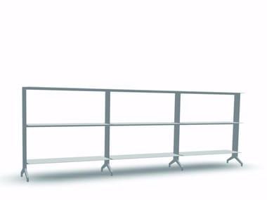 Open modular aluminium bookcase ALINE - S01