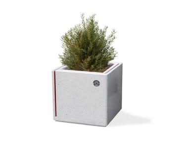 Low square concrete Flower pot ALIS | Flower pot