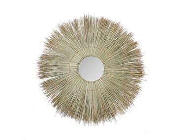 Round wall-mounted natural fibre mirror ALLANG ALLANG | Mirror