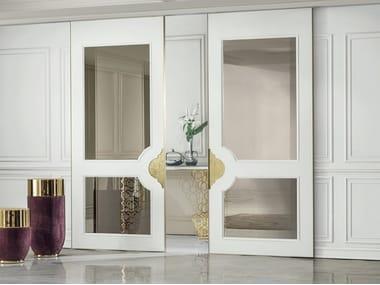Wood and glass sliding door ALLEY   Sliding door