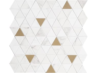 Mosaico in ceramica ALLMARBLE WALL | Mosaico Tria. Statuario