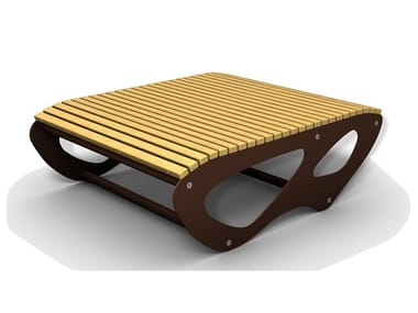 Rectangular wooden Table for public areas ALLTABLE