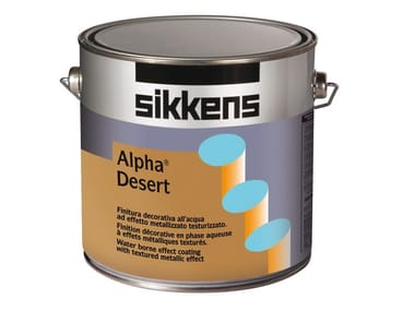 Water-based decorative painting finish with metallic effect ALPHA DESERT
