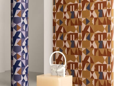 Geometric nonwoven wallpaper ALPHABET
