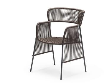 Stackable nautical rope garden chair ALTANA SP