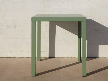 Square aluminium garden table ALU