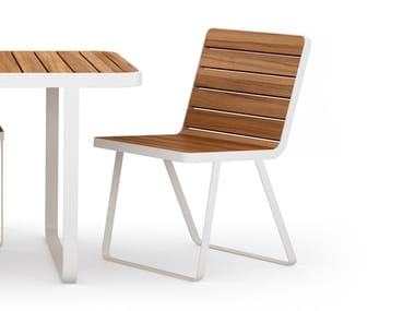 Aluminium and wood garden chair MAKEMAKE | Aluminium and wood chair