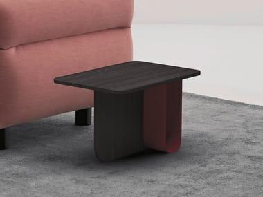 Tavolino di servizio in alluminio e legno U | Tavolino in alluminio e legno