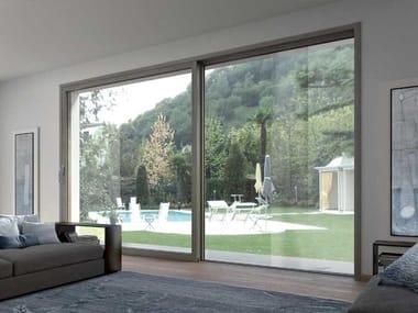Porta-finestra scorrevole in alluminio e legno EVO   Porta-finestra in alluminio e legno