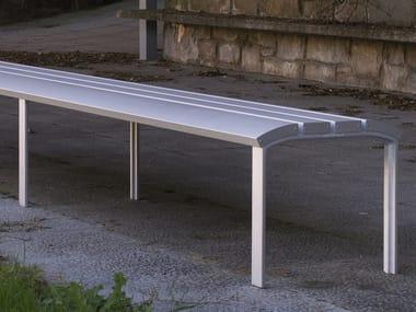AG3 cast aluminium anodized banquette NEOROMÁNTICO LIVIANO | Aluminium Bench