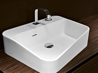 Rectangular Cristalplant® washbasin ALVEO1