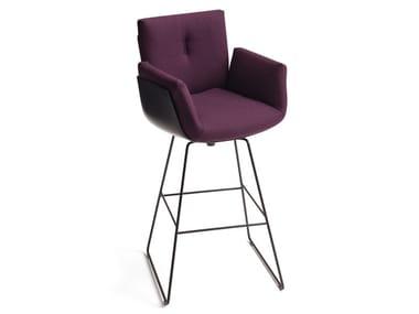 High fabric stool with back ALVO | Stool
