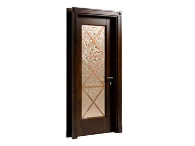 Hinged wood and glass door AMALFI